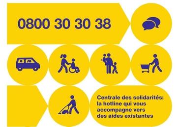 Centrale des solidarités, téléphone 0800 30 30 38